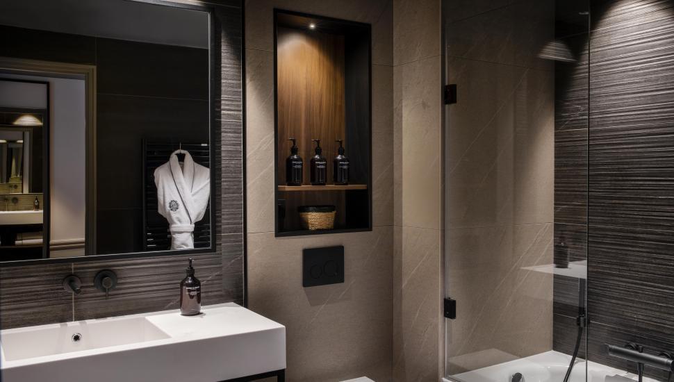 Victoria Palace Hotel Paris chambre deluxe salle de bain
